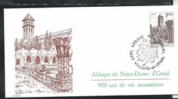 Edition D'Orval  N° 8623    Du Timbre N° 1592 Obl. Abbaye D'Orval 26/06/1971 - FDC