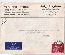 Fed.  Of SOUTH ARABIA-ADEN, Lettre Pour La France 1966 - Timbres