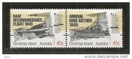 Fin De La Seconde Guerre Mondiale. (50 Ième Anniversaire),  2 T-p Neufs ** Se-tenant De L'île CHRISTMAS (Océan Indien) - Christmas Island