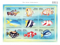 Malediven 2000. The Great Underwater. Blockausgabe   Postfrischer Block - Malediven (1965-...)