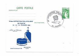 Exposition Philatélique De PANTIN - Parfumeur BOURJOIS, Soir De Paris - 1982 - Thème Parfum, Main - Marcophilie (Lettres)