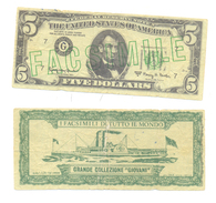 PHANTASY BANKNOTES 5 DOLLARS RARE - United States Of America