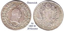 Österreich-1803 B, 20 Kreutzer - Austria