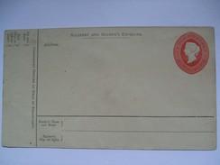 INDIA - Queen Victoria - Soldiers And Seamens Envelope Unused - 1882-1901 Imperio