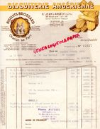 17- SAINT JEAN D' ANGELY- BELLE FACTURE BISCUITERIE ANGERIENNE- BISCUITS BROSSARD 38 BD. LAIR- 1952 - Food