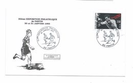 Enveloppe 30e Exposition Philatélique De PANTIN De 1993..1917 Olympique De PANTIN 1er Vainqueur Coupe De France FOOTBALL - Matasellos Manuales