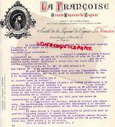 """16- SAINT SAVINIEN SUR CHARENTE- CONTRAT VENTE STE LIQUEUR DE COGNAC """" LA FRANCOISE """"  1910 FRANCOIS 1ER - Historical Documents"""
