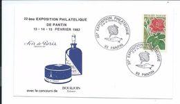 Enveloppe 22e Exposition Philatélique De PANTIN De 1982..Parfum BOURJOIS, Soir De Paris - Marcophilie (Lettres)