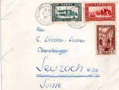 Lettre Du Maroc Pour La Suisse (1937) - Morocco (1956-...)