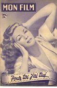 REVUE CINEMA MON FILM  POUR TOI J'AI TUE  No169 1949 - 1900 - 1949