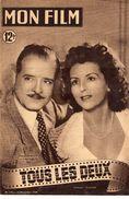 REVUE CINEMA MON FILM  TOUS LES DEUX  No170 1949 - Bücher, Zeitschriften, Comics