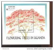 UGANDA  765  MINT NEVER HINGED SOUVENIR SHEET OF FLOWERS - ORCHIDS - Végétaux