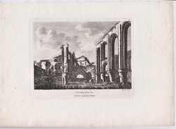 """""""St Botolph's Priory"""" 288 X 240 Mms (actual Pic Is 160 X 110)  Published 1783  By  'S Hooper'.   Ref 0449 - Prints & Engravings"""
