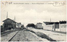 """38 SAINT-PRIEST - Route D'Heyrieux - """"Avicole""""    (Recto/Verso) - France"""