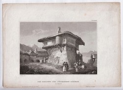 Old Turkish House Size 177 X 160,  Published C1750.  Ref 0450 - Prints & Engravings