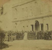 Stéréo 1860-70 . Scène Figurant Pie IX , François II Des Deux-Siciles Et La Reine De Naples , Athanase De Charette . - Stereoscopio