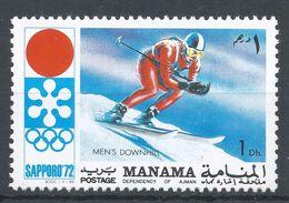 Manama 1971. Michel #562 (MNH) Winter Olympic  Sapporo, Downhill, Descente - Manama