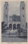 MOGADISCIO - LA CATTEDRALE - 1936 - AFFRANCHISSEMENT AVEC TIMBRE COLONIE ITALIENNE - Somalia