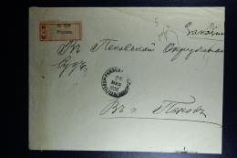 Russian Latvia : Registered Cover 1902 Witebsk Rositten Rezekne  Strip Of 3 - 1857-1916 Imperium