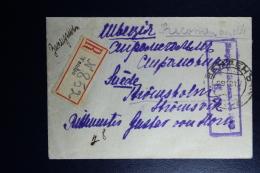 Russian Latvia : Registered Cover 1917 Livland Wenden Cesis Stockholm - 1917-1923 Republik & Sowjetunion