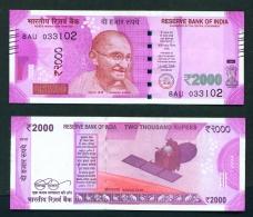 INDIA  -  2017  2000 Rupees  UNC - India