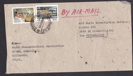 Nepal: Airmail Cover To Netherlands, 2 Stamps, King, Peace Pigeon, Dam, Hydro-electricity (minor Damage) - Nepal