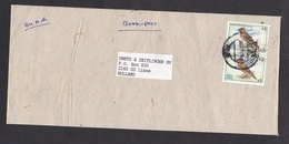 Nepal: Airmail Cover To Netherlands, 2 Stamps, Bird (minor Damage) - Nepal