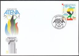 Croatia Zagreb 2004 / Olympic Games Athens / Sport / FDC - Ete 2004: Athènes