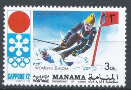 Manama 1971. Michel #564 (MNH) Winter Olympic  Sapporo, Slalom - Manama