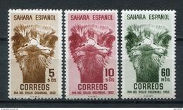 Sahara 1952. Edifil 98-100 ** MNH. - Spanische Sahara