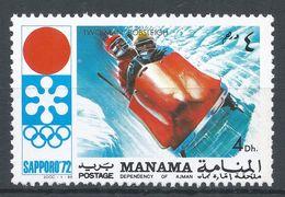 Manama 1971. Michel #565 (MNH) Winter Olympic  Sapporo, Bobsled - Manama