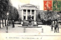 [DC10903] CPA - FRANCIA - PONT L'EVEQUE - PLACE DU PALAIS DE JUSTICE - Viaggiata - Old Postcard - Pont-l'Evèque