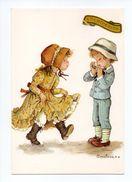 Dessin D'Enfants: Jeune Garçon Avec Armonica Et Petite Fille Entrain De Danser, Illustrateur Constanza (17-1910) - Dessins D'enfants