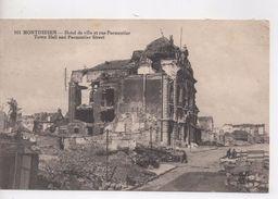 Cpa.80.Montdidier.1926.Hôtel De Ville Et Rue Parmentier. - Montdidier