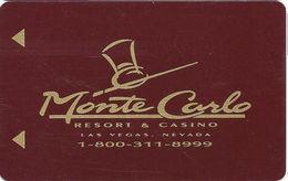 Monte Carlo Casino - Las Vegas, NV - Hotel Room Key Card - Hotel Keycards