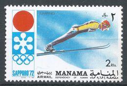 Manama 1971. Michel #568 (MNH) Winter Olympic  Sapporo, Ski Jump - Manama