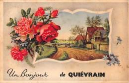 CPA QUIEVRAIN UN BONJOUR DE - Quiévrain