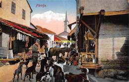 CPA  MONTENEGRO PLEVLJE DOUANE CHASSE BORDER GRENZ HUNT DOG CHIEN - Montenegro