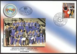 Yugoslavia Belgrade 2001 / Volleyball European Championship / Winners / FDC - Pallavolo