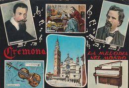 13770) CREMONA MUSICA LA MELODIA NEL MONDO VIAGGIATA 1967 - Cremona