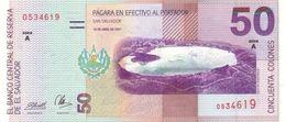 * EL SALVADOR 50 COLONES 1997 P-150a  [SV150a] - Salvador