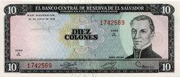 * EL SALVADOR 10 COLONES 24.6.1976 P-118a  [SV150a] - El Salvador