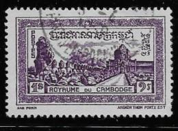 CAMBODIA, 1954,  USED  # 34   LAST GATE ANGKOR TOWN    USED - Cambodge