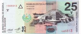 * EL SALVADOR 25 COLONES 1977 P-149a  [SV149a] - El Salvador