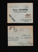 COLONIES - Bel Ensemble De 82 Lettres Des Années 50 D'Afrique Noire Avec Des Petits Bureaux - 41 Scans - France (former Colonies & Protectorates)