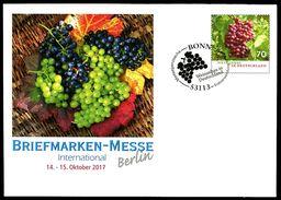 40258) BRD - Michel USo ? - EVST 53113 OO Gestempelt - Ausg.: 12.10.2017 - 70C  Weinbau, Briefmarkenmesse Berlin - [7] Federal Republic