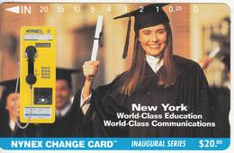 USA(Tamura) - New York World Class Education, Nynex Cardphone, Nynex Telecard, First Issue $20, Tirage 10115, Mint - Vereinigte Staaten