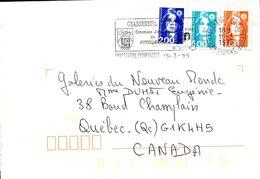 2- FRANCE Marianne De Briat AFFRANCHISSEMENT TRICOLORE De 86 CHASSENEUIL FUTOROSCOPE 1995 - Variedades Y Curiosidades
