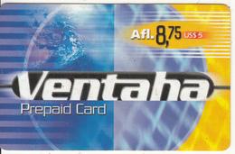 ARUBA - Ventaha Prepaid Card Afl 8.75/US$5, Used - Aruba