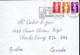 2- FRANCE Marianne De Briat AFFRANCHISSEMENT TRICOLORE De 59 SECLIN 11/04/1994 - Variedades Y Curiosidades